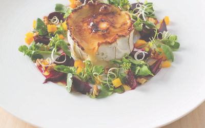 Goat's cheese brûlée salad (For 2 to share)