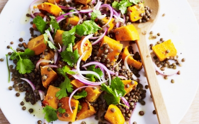 Warm Chilli, Pumpkin and Lentil Salad