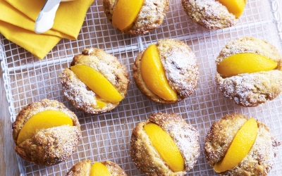 Peach, Banana and Coconut Muffins