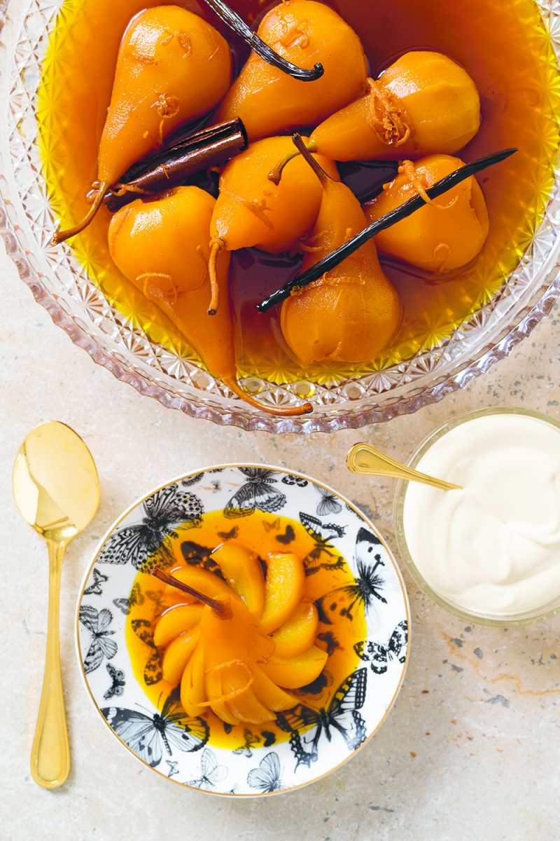 Saffron pears in cider | Anna Gare Official Website