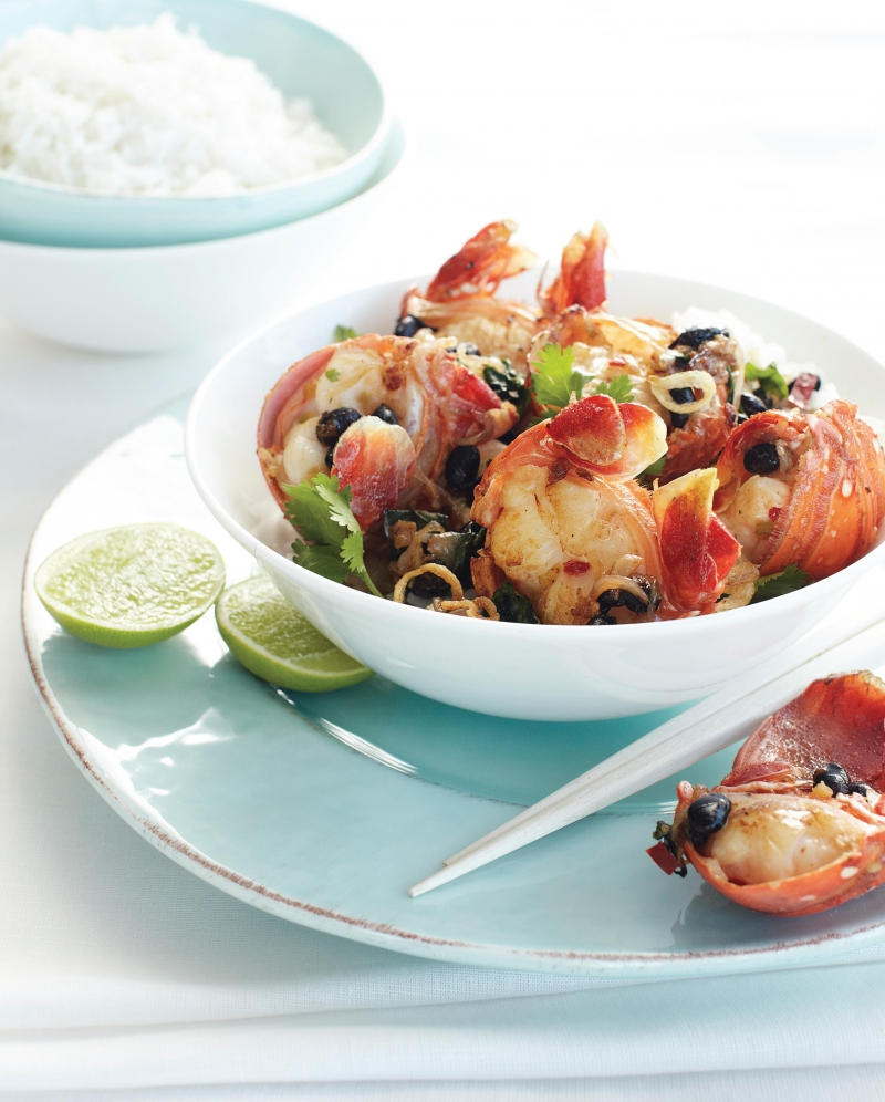 Wok the Lobster in Salty Black Beans, Chilli and Ginger | Anna Gare Official Website