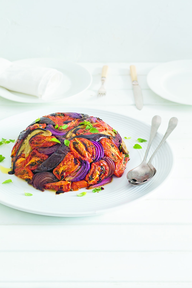 Oven-dried Tomato & Eggplant Dome | Anna Gare Official Website